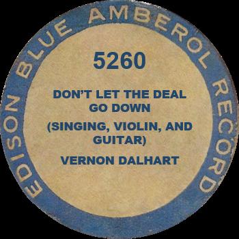 FOUND Blue Amberol 5260 - Edison.