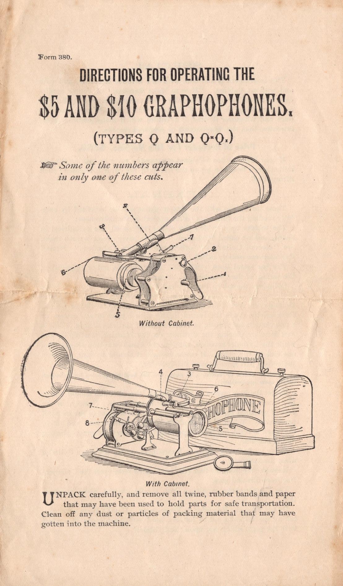 Reprinted Columbia Q Instructions